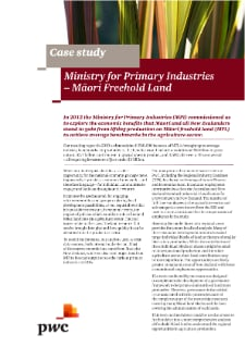 Ministry of Primary Industries - Māori Freehold Land