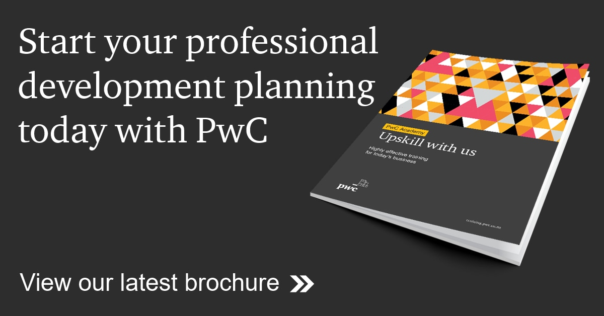 Start your professional development planning today with PwC